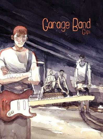 book cover of Garage Band by Gipi, translated by Spectrum, published by First Second Books