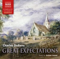 CD cover of Great Expectations  by Charles Dickens   Read by Anton Lesser Published by Naxos AudioBooks