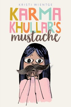 bok cover of Karma Khullar's Mustache, by Kristi Wiengte, published by Simon Schuster Young Readers | recommended on BooksYALove.com