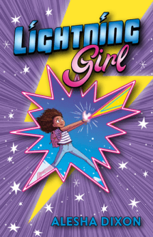 book cover of Lightning Girl, by Alesha Dixon & Katy Birchall, illustrated by James Lancett. Published by Kane Miller Publishing EDC | recommended on BooksYALove.com