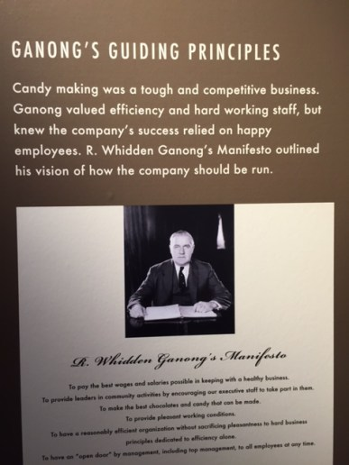 Happy employees are efficeint and hard-working employees realized the Ganong brothers. The chocolate factory in New Brunswick was mentioned in Kids Can Press' Canada Year by Year book in time for Canada150.