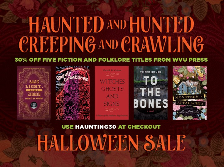 Announcing Halloween Sale, 30% five titles with the discount code HAUNTED30 at checkout.