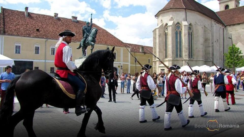Change of the guard at the Alba Iulia Fortress