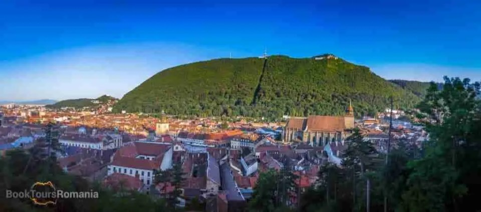 Brasov Old City Panorama