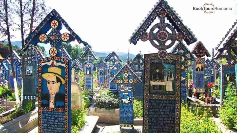 The unique Merry Cemetery