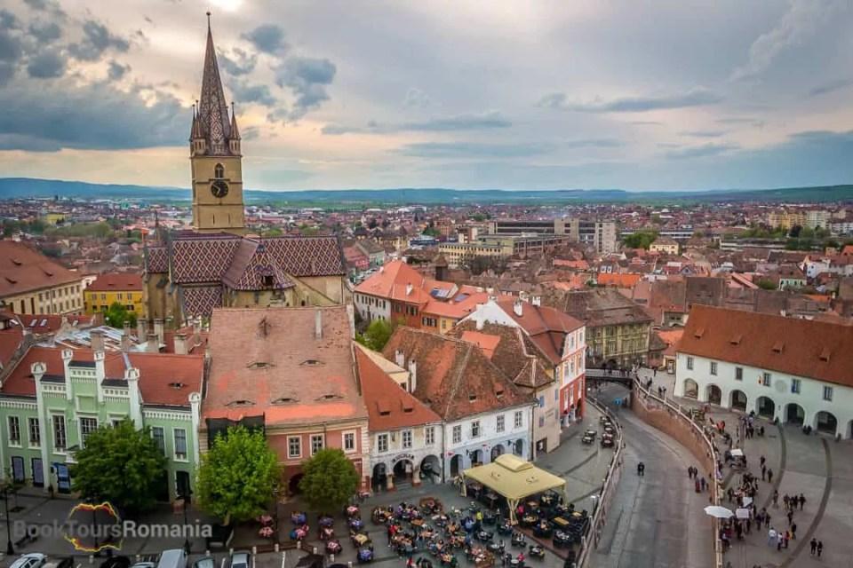 Huet Square in Sibiu