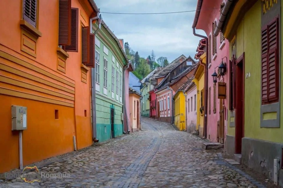Colorful houses in Sighişoara citadel