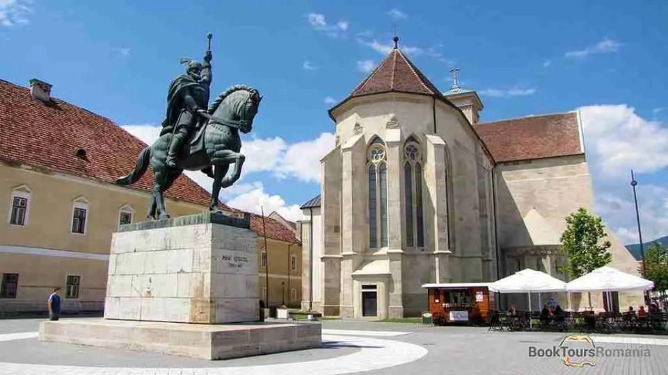The equestrian bronze statue of Michael the Brave