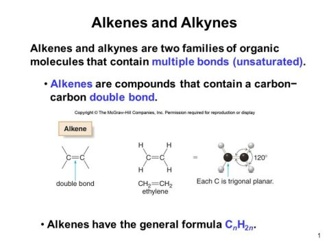 Download Lecture Notes on Alkenes and alkynes