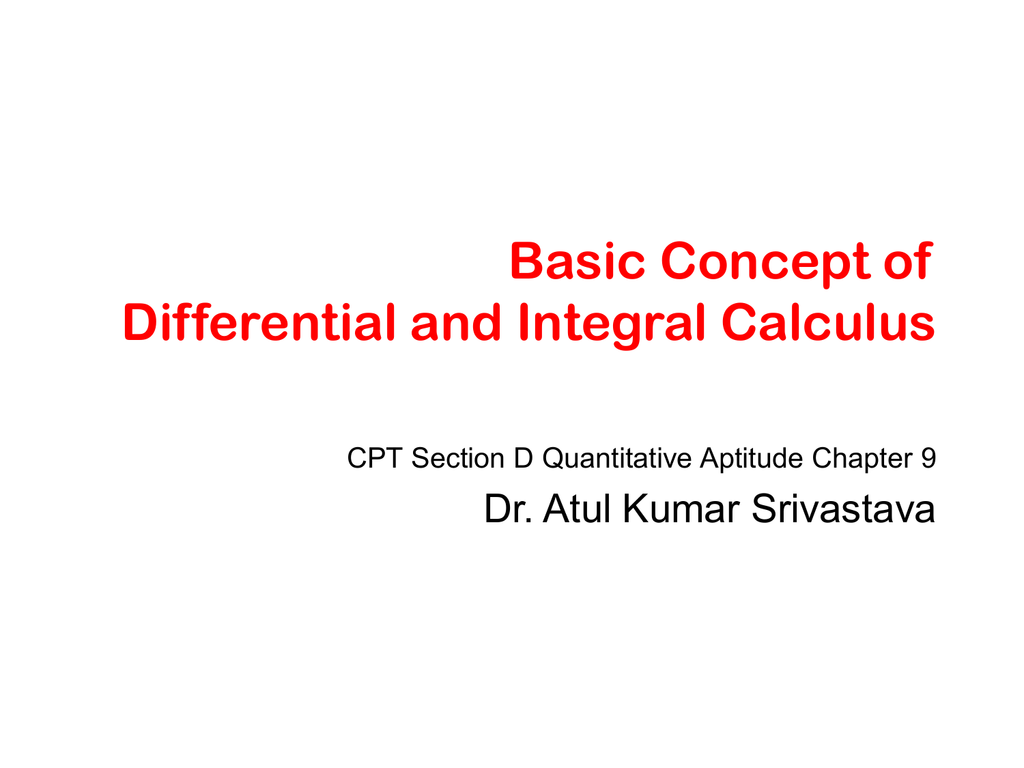 Differential And Integral Calculus Ebook