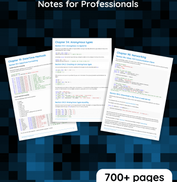 DOWNLOAD C# NOTES FOR PROFESSIONALS