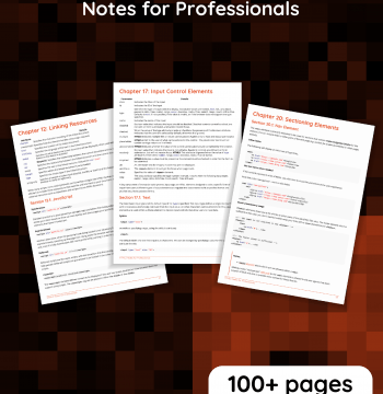 Download HTML5 Notes for Professionals