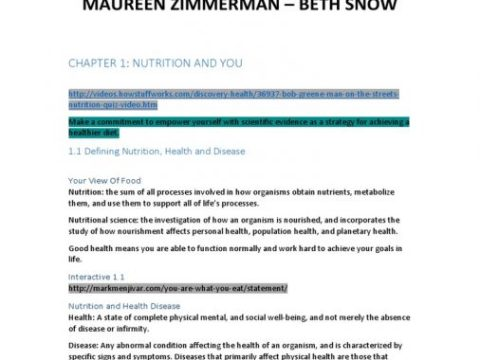 An Introduction to Nutrition by Dr. Maureen Zimmerman