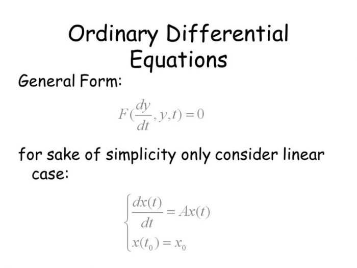 DOWNLOAD MAT 241 (ORDINARY DIFFERENTIAL EQUATIONS) LECTURE NOTE