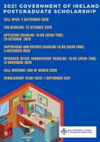 Government of Ireland Postgraduate Scholarship Programme 2021