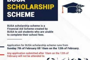 Babcock University Students' Association (BUSA) Scholarship Scheme 2020/2021