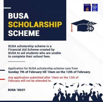 Babcock University Students' Association (BUSA) Scholarship Scheme 2020/2021