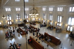 A view of the King Street Station Terminal in Seattle.