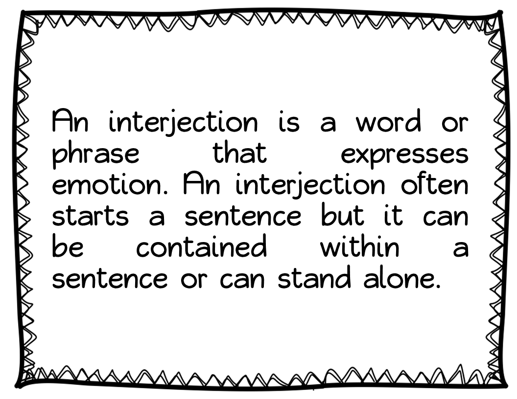 Interjection Worksheet For Class 3