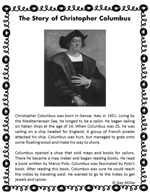 small resolution of Columbus Day Activities   Book Units Teacher