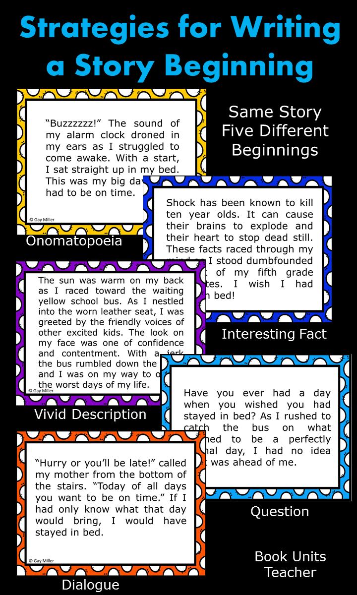 hight resolution of Writing a Narrative Hook   Book Units Teacher