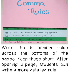 Teaching Comma Rules   Book Units Teacher [ 1344 x 720 Pixel ]