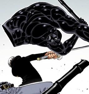覇気でヴェルゴを切断するロー