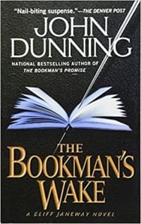"""""""The Bookman's Wake"""" by John Dunning (Book cover)"""