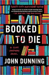 """""""Booked to Die"""" by John Dunning (Book cover)"""