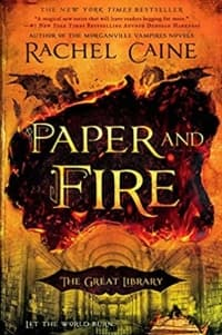 """Paper and Fire"" by Rachel Caine (Book cover)"