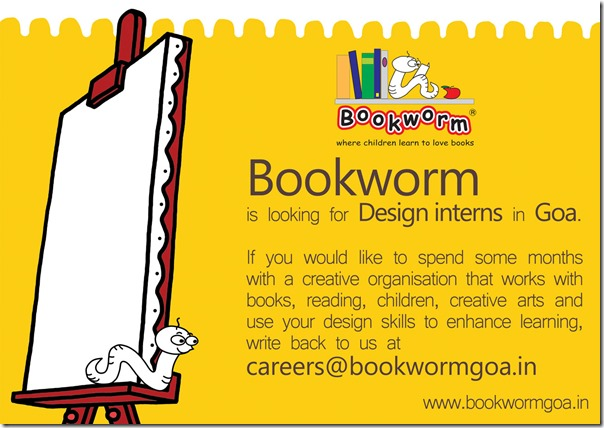 Bookworm_design_intern_Goa_poster