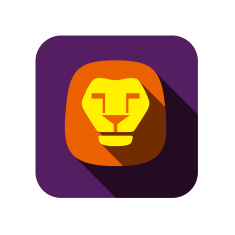 stock-illustration-27796897-lion-flat-icon-design-animal-icons-series