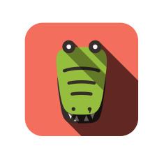 stock-illustration-27798787-crocodile-face-flat-icon-design-animal-icons-series