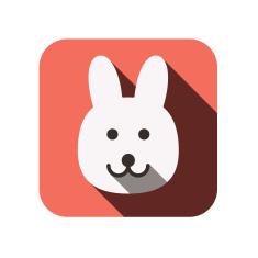 stock-illustration-44008996-animal-face-flat-icon