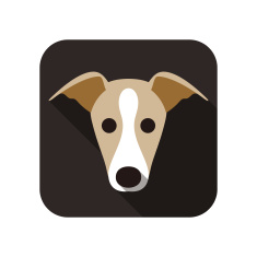 stock-illustration-45090808-grayhound-dog-face-flat-icon