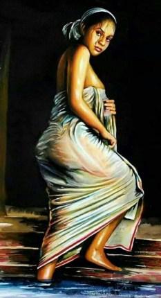 കുറിയേടത്ത് താത്രി (Nijukumar Venjaramoodu Painting)