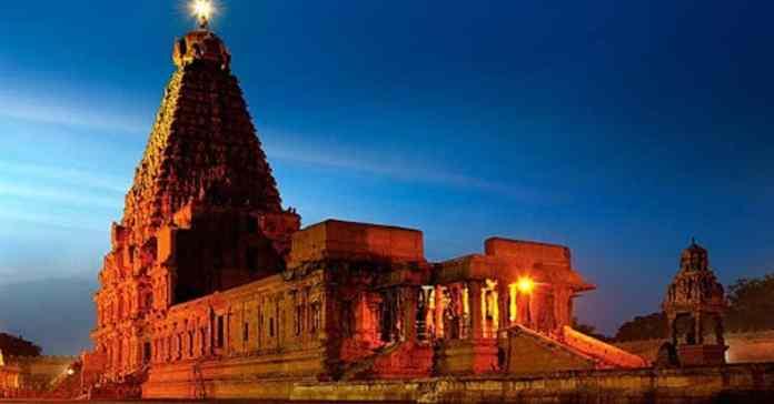 ദ്രാവിഡ വാസ്തുവിദ്യയുടെ വിസ്മയാകാരമായ തഞ്ചാവൂർ ബൃഹദേശ്വരക്ഷേത്രം