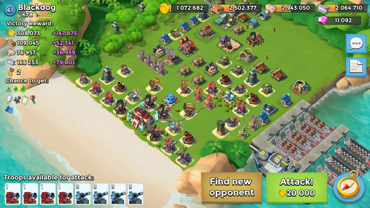 Boom Beach Great Defense