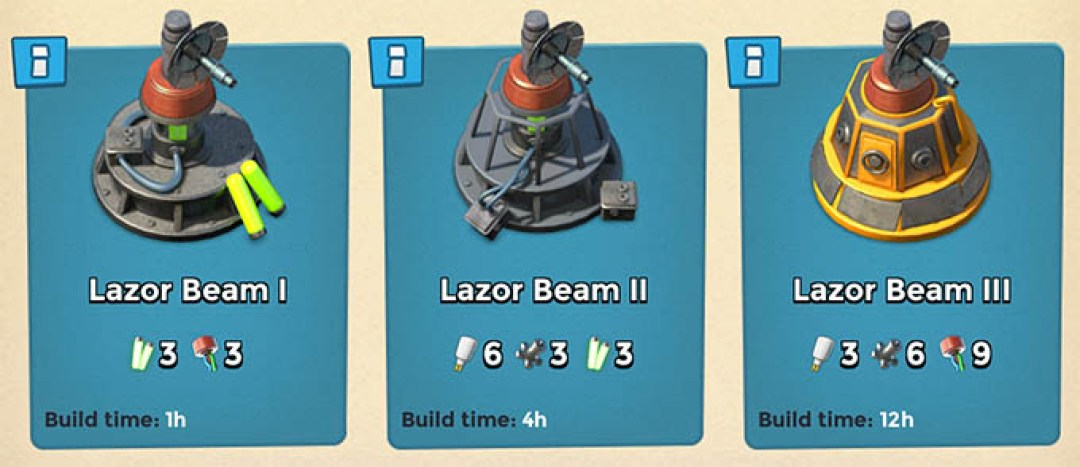 Lazor Beam levels
