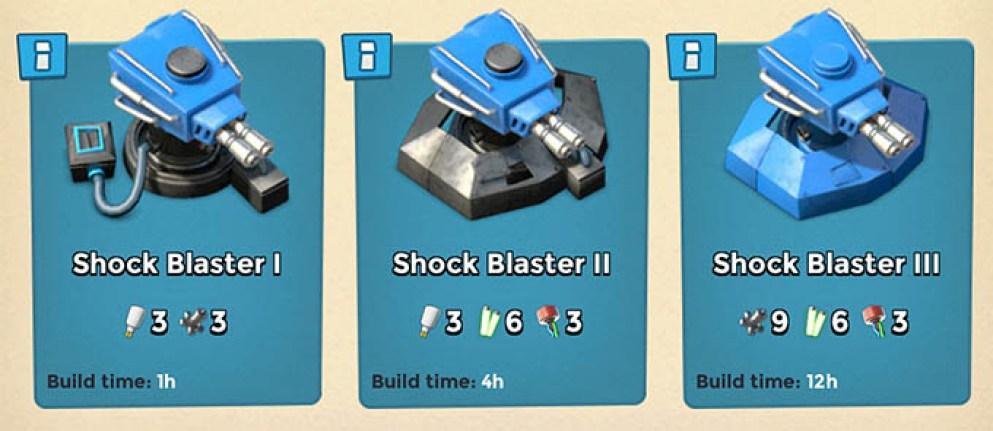 Shock Blaster levels