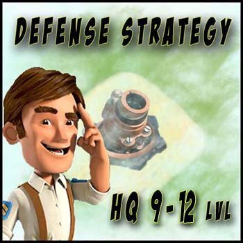 Optimal Defense Base Layout (HQ 9 – 12 lvl)
