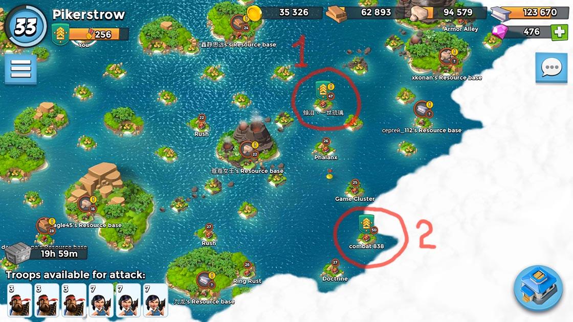 boom beach map