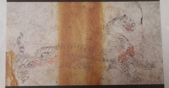 キトラ古墳壁画(白虎)※下敷きより