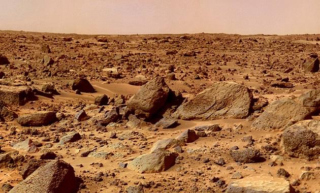 火星の地表
