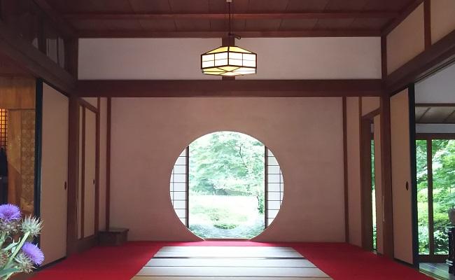 明月院の円窓 in 2019,07