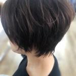 襟足の質感がかわいい30代からはじめる大人ショートヘア!!