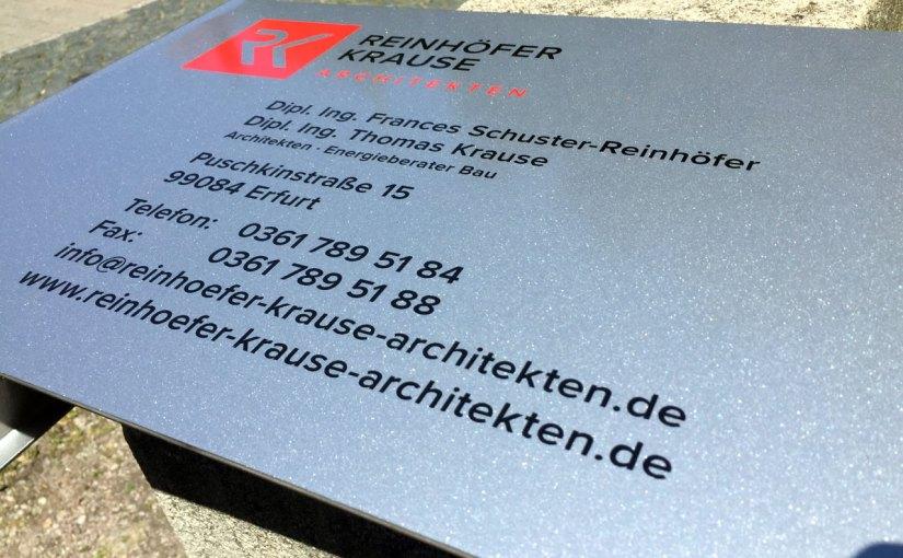 Schild | Reinhöfer + Krause ARCHITEKTEN