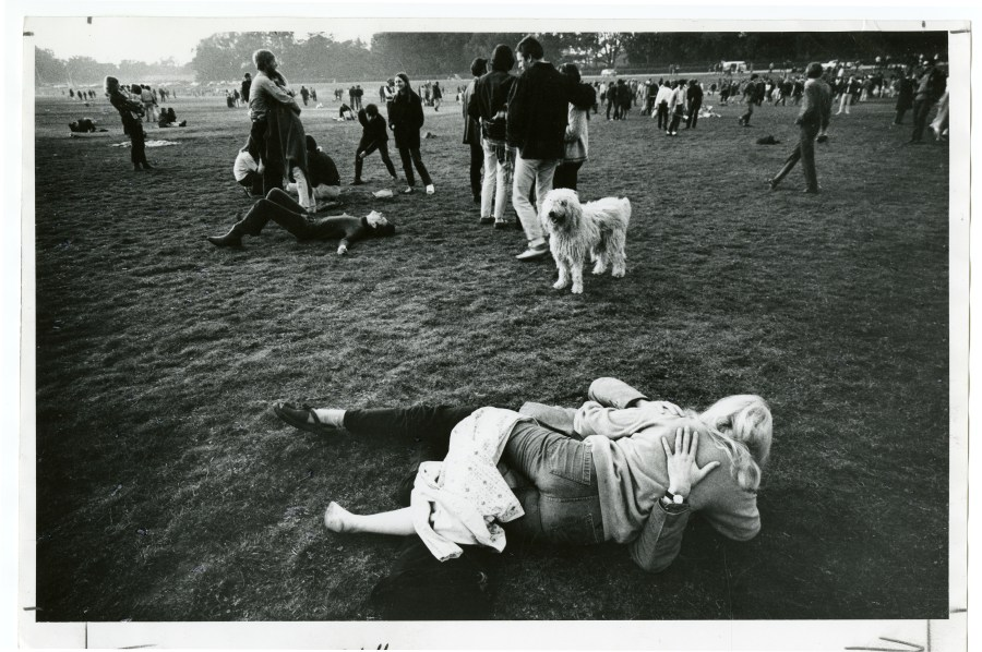 [Winding down at the Be-In, Golden Gate Park, 1967 January 14]