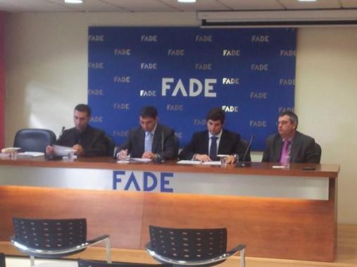 Rueda de Prensa en la Sede de FADE de la I Semana Impulso TIC con Oscar L. Castro, Angel Retamar, Hilario y Labra
