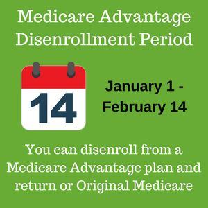 Medicare Advantage Disenrollment Period 2018 Coming Soon